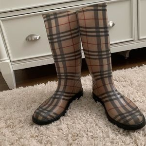 Burberry Wellie Rain Boots